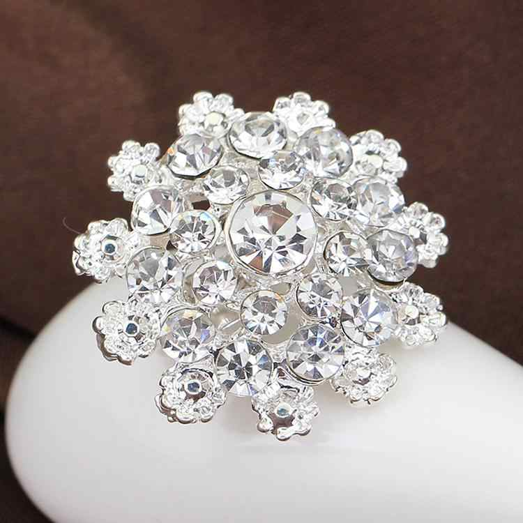 High Quality Fine Bijouterie Rhinestone Snowflake Brooch Small Collar Pin Brooches Wholesale Hat Decoration