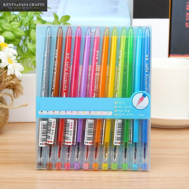 12Pcs/Set Multicolor Gel Pen Stationery School Supplies Gel Ink Pen School Stationery Office Suppliers Kids Gift School Tools