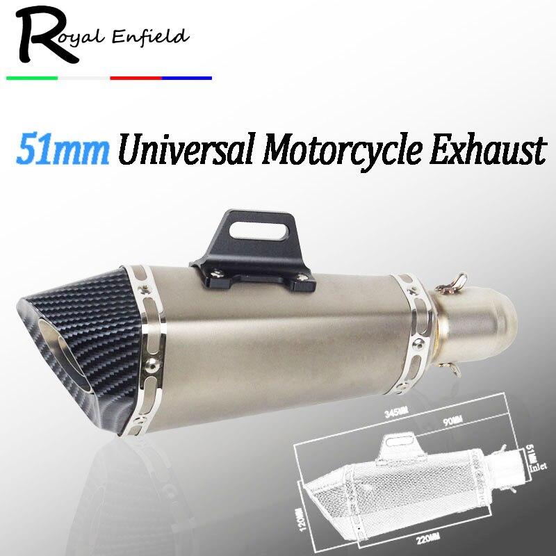 Silencieux de tuyau d'échappement de moto modifié universel pour Yamaha FJR1300 pour BWS 125 FZ07 09 FZ1 FZ8 FZ6R MT09 MT07 36-51mm