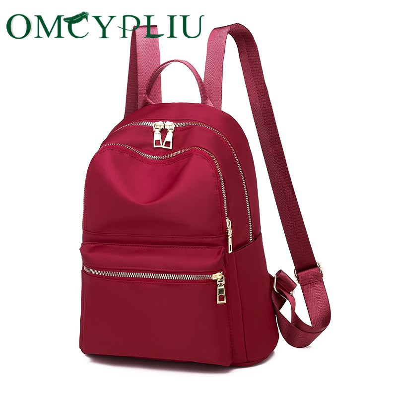 Women Backpack 2019 Fashion Designer Ladies Bag Female High Capacity Student Red School Bags For Teenage Girls Mochila Mujer