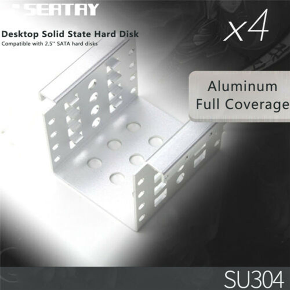 """Mounting Bracket Hard Drive Disk Holder New 4 Bay 2.5 To 3.5"""" HDD Metal Adapter Rack Accessories"""