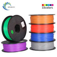 Material de impressão colorido do filamento 1 kg do pla 1.75mm para a pena da extrusora da impressora 3d acessórios plásticos do arco-íris preto branco vermelho cinzento