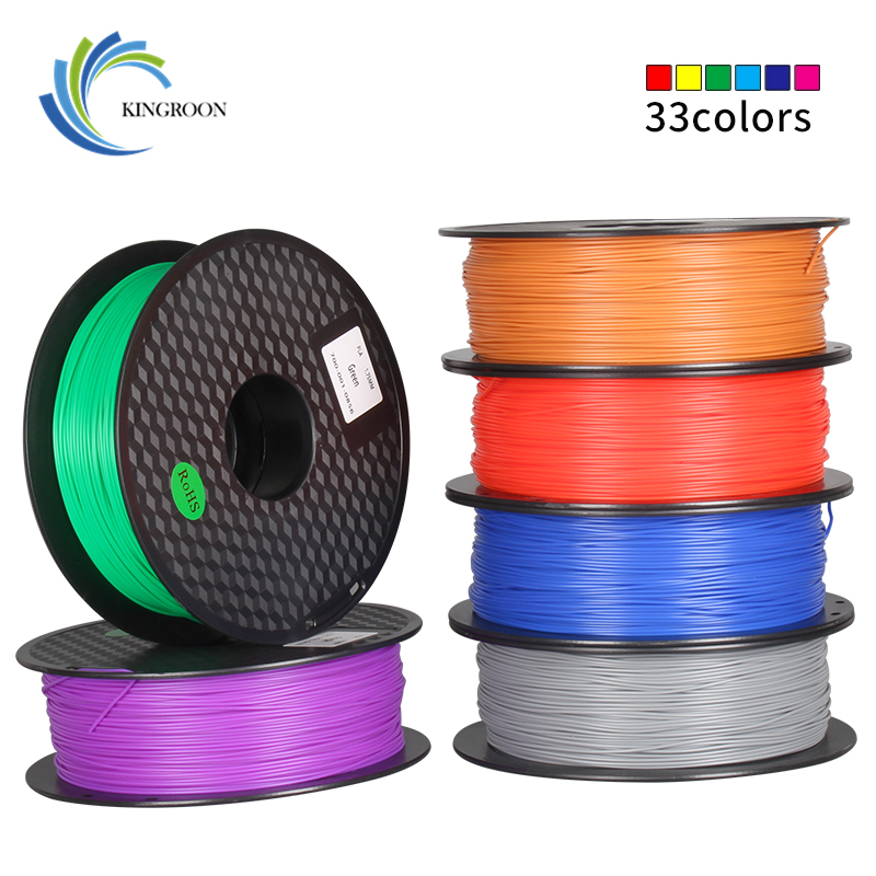 PLA 1.75mm <font><b>Filament</b></font> 1KG Printing Materials Colorful For <font><b>3D</b></font> Printer Extruder <font><b>Pen</b></font> Rainbow Plastic Accessories Black White Red Gray image