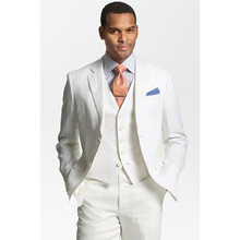 white wedding tuxedos for men suits 2017 custom made suit 3 piece prom wear high quality