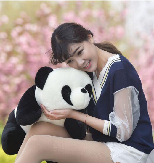big new lovely panda toy hug cartoon stuffed panda doll gift about 55cm big lovely stuffed panda toy plush sitting panda doll birthday gift about 70cm