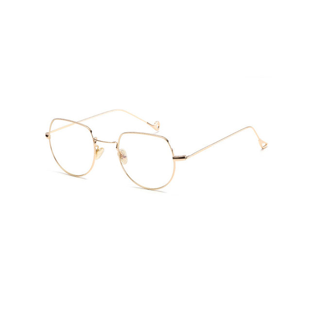 68313084bc4 LAOKE Fashion Metal Glasses Frame Men Women Plain Glass Spectacles Vintage Reading  Glasses Frames Transparent Eyeglasses JY6685