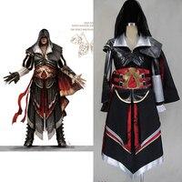Assassins Creed 4 костюм для мальчиков Эцио Альтаир Панцири Карнавальный костюм для взрослых мужские Assassins Creed капюшоном куртки пользовательские