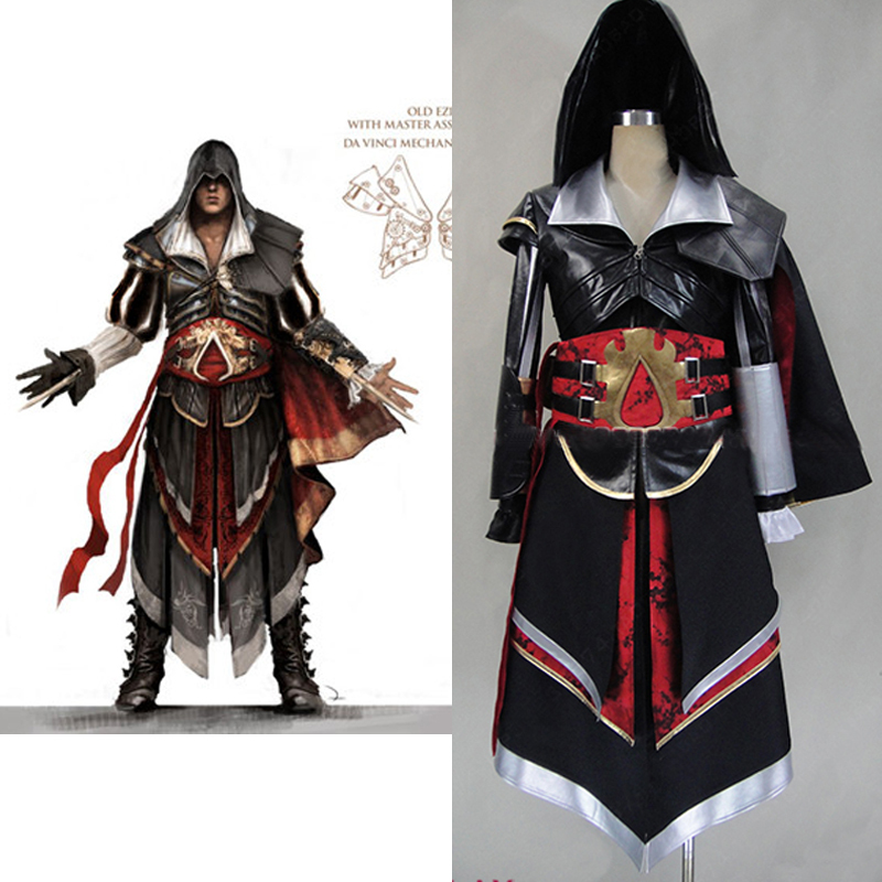 assassins creed 4 costume for boys ezio Altair Armor cosplay costume adult font b mens b