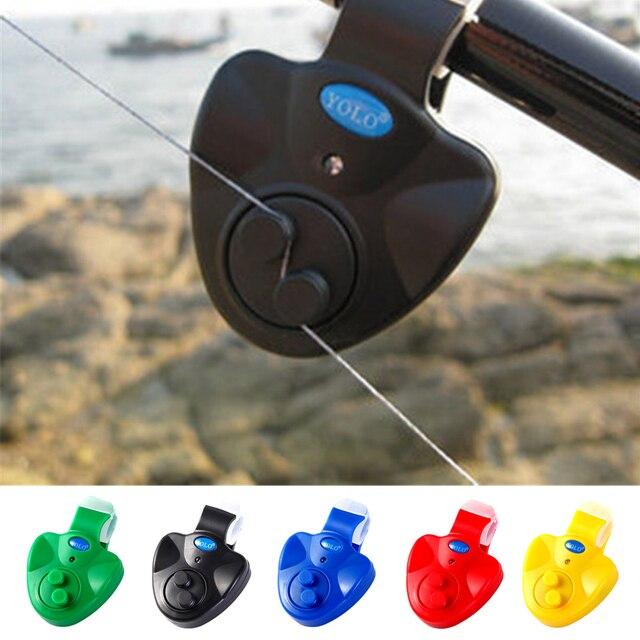 Al aire libre Clip para LED Luz de pesca Rod electrónica alarma mordedura de clip-Clip de pescado timbre de los amantes de la pesca