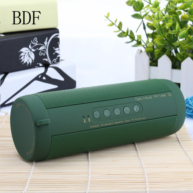 BDF Wireless Bluetooth Speaker T2 Waterproof 3D Sound Surround Good Bass Bluetooth Portable Speakers MIC TF FM AUX Loudspeakers getihu portable mini bluetooth speakers wireless hands free led speaker tf usb fm sound music for iphone x samsung mobile phone