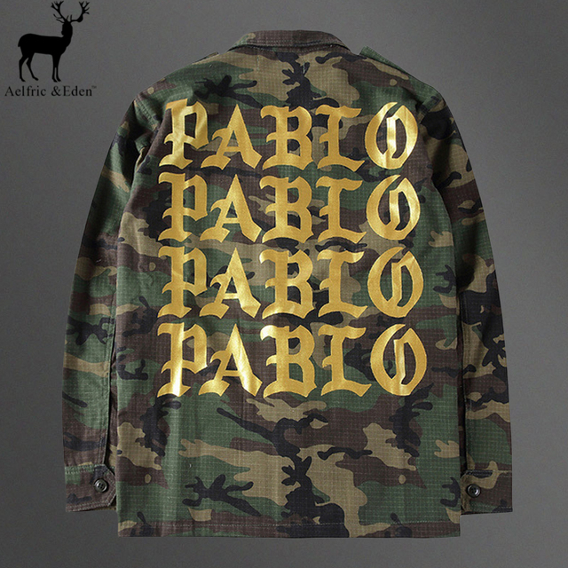 Aelfric Eden Women Pablo Jacket Kanye Camouflage Pablo Mens Jacket Yeezy Jackets Army Cargo Men High Quality Streetwear Coats