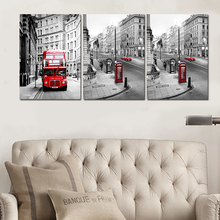 2016 New3 Panel Modern Printed London Building City Wall Art Painting Picture Town Landscape Home Decor For Living Room No Frame
