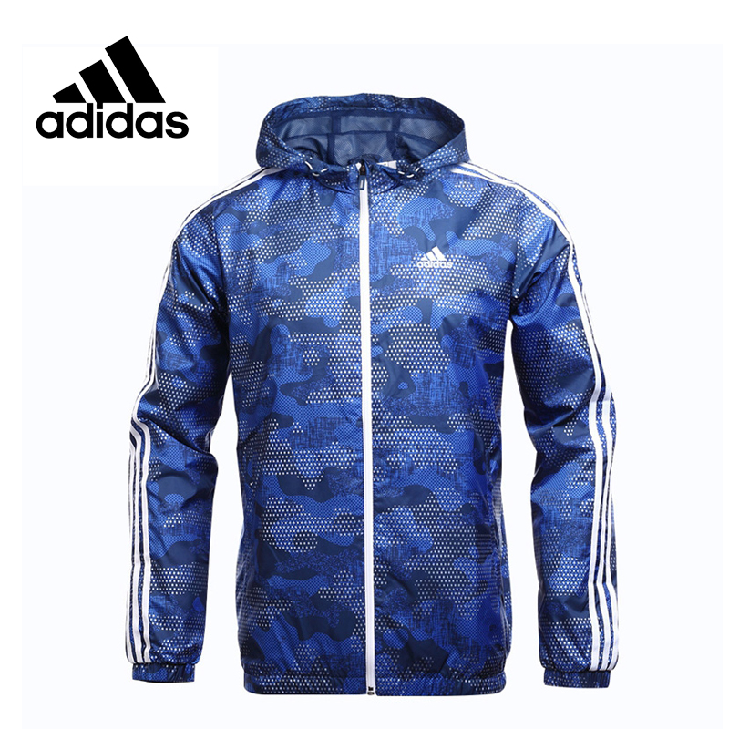 Original Adidas New Arrival Performance WB CAMO AOP Men's jacket Hooded Sportswear брюки спортивные adidas performance adidas performance ad094ebuoi71