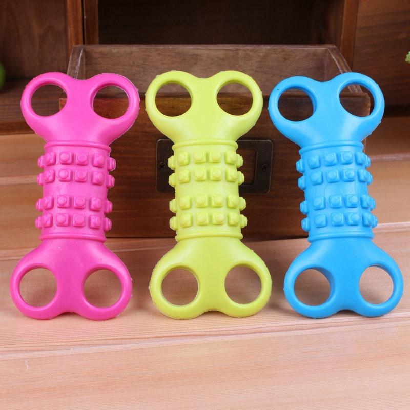 Красочный Pet Игрушки для собак Щенок зубов и десен кость формы, средство обучения собака сжимая писклявым Игрушечные лошадки 1 шт.