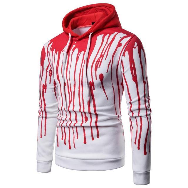 Sudadera con capucha para hombre Sudadera con capucha 3D Irregular  salpicaduras tinta impresión calle Hip Hop 937bcf47ed7