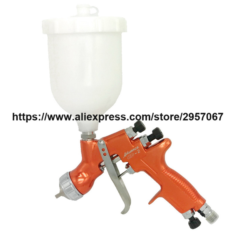 цена на HD-2 HVLP Devilbiss Spray Gun Gravity Feed for all Auto Paint ,Topcoat and Touch-Up with 600cc Plastic Paint Cup
