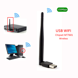 Image 4 - חדש MT7601 MTK7601 150M Externe USB WiFi מתאם Antenne Dongle תמיכת DVB S2 T2 T V6 V7 V8 F6S v8S בתוספת סט למעלה טלוויזיה תיבת מחשב