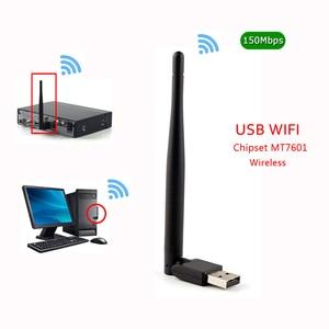 Image 4 - Nouveau MT7601 MTK7601 150M Externe USB WiFi adaptateur Antenne Dongle Support DVB S2 T2 T V6 V7 V8 F6S V8S PLUS ensemble décodeur TV PC