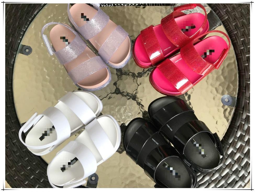 Melissa оригинальные пластиковые сандалии для девочек 2019 Новый стиль девушка босоножки детские, сандалии Melissa пляжные сандалии для девочек 15 с