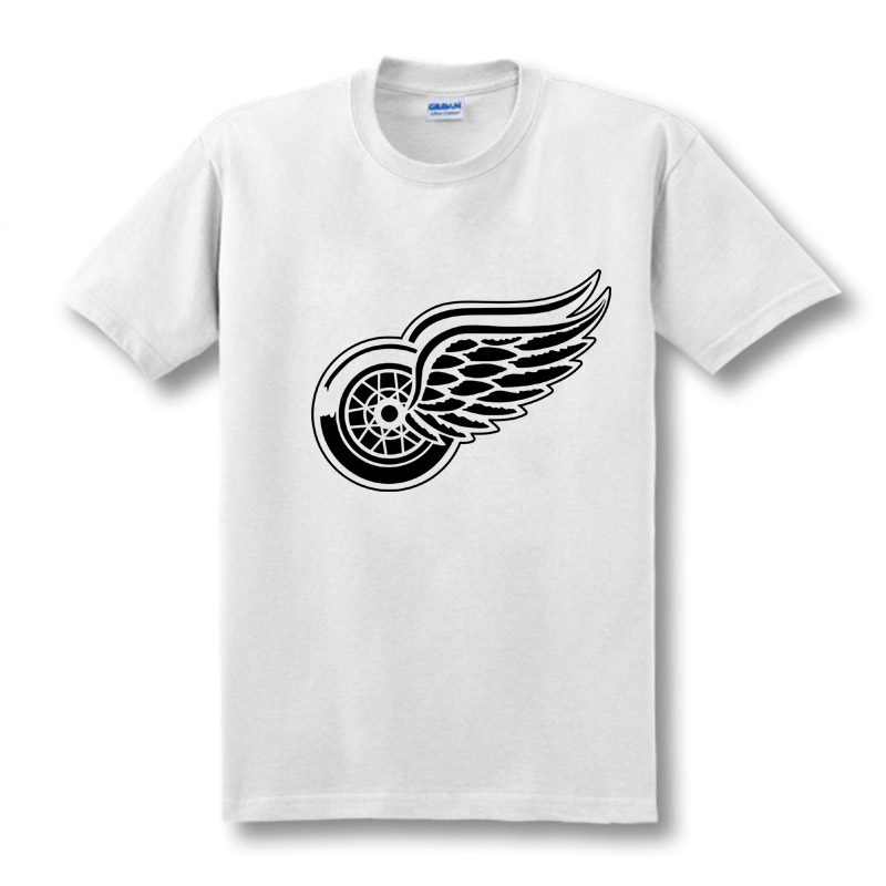 New Detroit Red Wings T-shirt bomuld Store og store logo Mode Wings - Herretøj - Foto 2