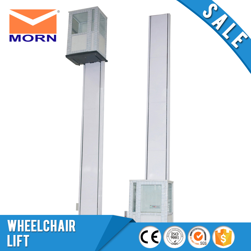 1.5m wheelchair lift with glass cabin small home vertical elevator for children and handicapped indoor outdoor equipment