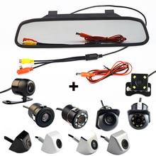 4.3 Polegada Auto Parking System HD Monitor Espelho Retrovisor Do Carro com 170 Graus À Prova D' Água câmera de visão traseira