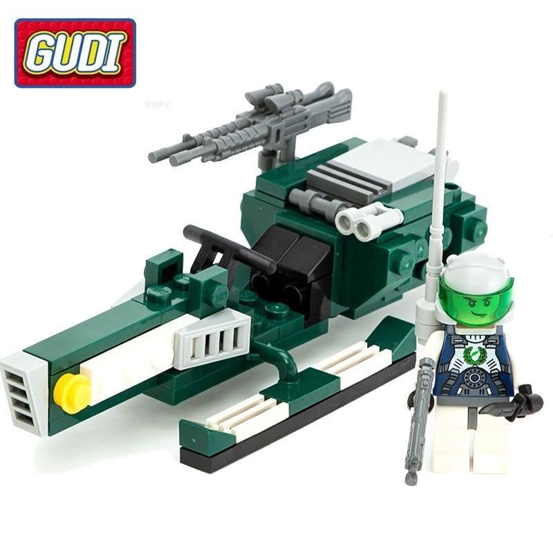8206 78pcs Science Fiction Constructor Model Kit Blocks Compatible LEGO Bricks Toys For Boys Girls Children Modeling
