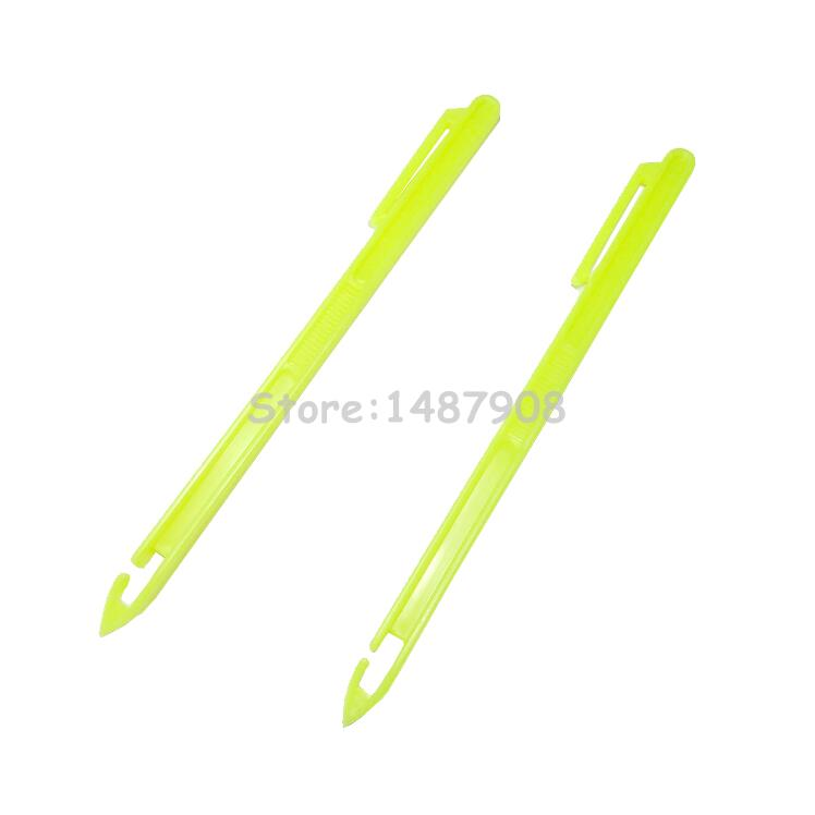 2pcs 5 7 inch plastic fishing hook remover fish hook hair for Fish hook remover