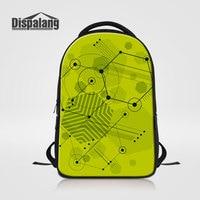 Dispalang Vintage Girls School Bags Cute Geometric Printing Women Outdoors Laptop Backpack Children Large Capacity Bookbags
