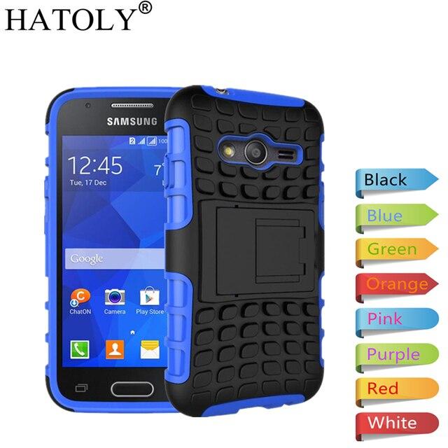 3503cd26c2b HATOLY para funda Samsung Galaxy Ace 4 Neo funda G313 G318 resistente  armadura de goma para