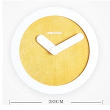 Creative simple wood wall clock modern design Digital diy wall clocks bedroom wall clock clocks for home Wedding decoration