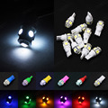 Crazy Sale!! 50pcs 5 Color Mix Vehicle T10 168 192 W5W 5 LED 5050 SMD Wedge Light Car Dome Map Reading License Plate Light