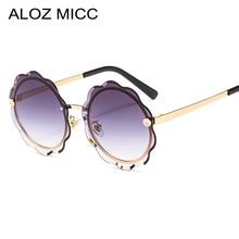 ALOZ MICC Fashion Round Sunglasses Women Unique Rimless Gradient Sun Glasses Men Candy Colors Shades UV400 Q697