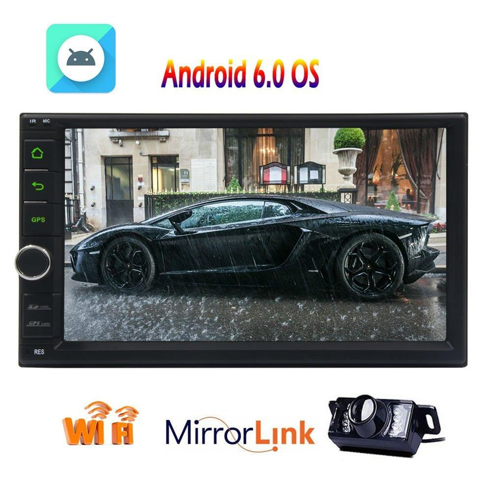 Car Stereo Vehicles 7'' GPS Navigation NO DVD Head Unit Android 6.0 Quad Core in Dash Car Radio Receiver Mirrorlink+Rear Camera