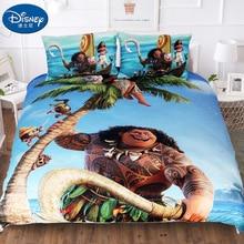 Disney 3Pcs Moana Maui Bedding Set Her side His  Duvet Cover Pillow Case 3D Couple Kid Boy Teen Girl Bed Linens Twin Full