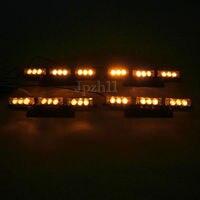 XYIVYG 4X9 LED Amber Yellow Car Police Grill Emergency Flash Strobe Light 3 Flashing Modes 12V