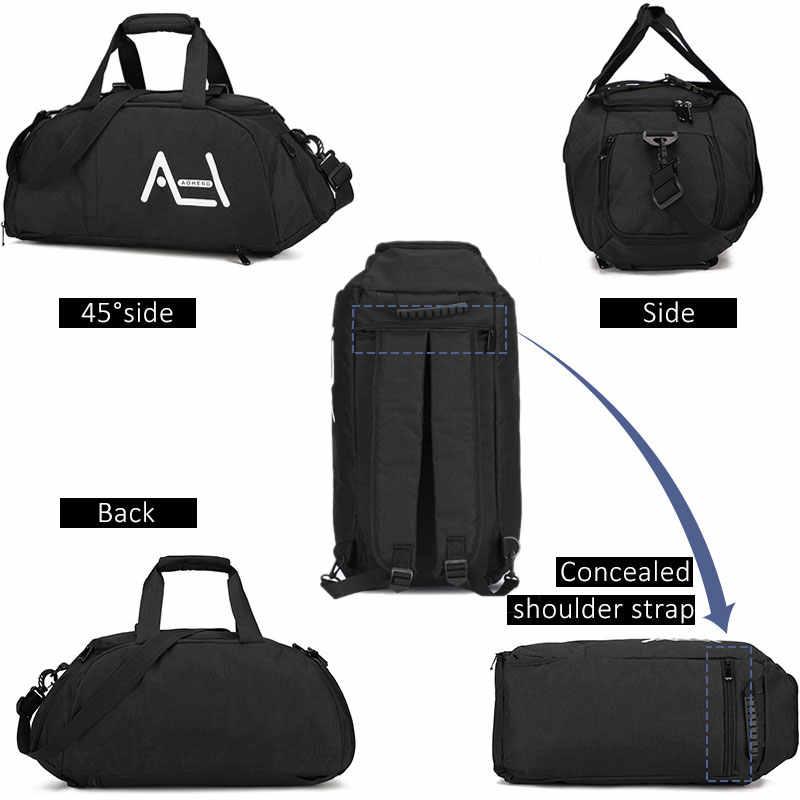 Scione Большой универсальный путешествия спортивная сумка для мужчин женщин высокое качество сумки через плечо чемодан