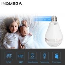 INQMEGA 960 P Беспроводной IP камера лампа свет панорамный рыбий глаз охранных наблюдения 360 градусов 3D VR k CCTV Wi Fi Cam