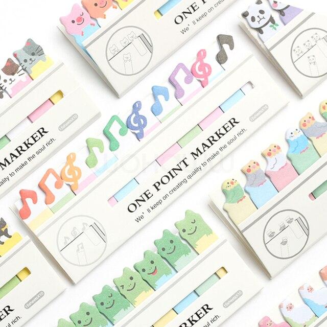 Kawaii Lindo Gato Diy Corea Panda Sticker Sticky Notes Etiqueta Post It Escuela material de Oficina Papelería Página Banderas Para La Papelería
