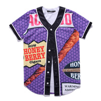 Purple Baseball Jerseys Men Women Unisex Homme Brand Clothing Funny Printed Tee Top Shirts Short Sleeve Mens Fashion T shirt