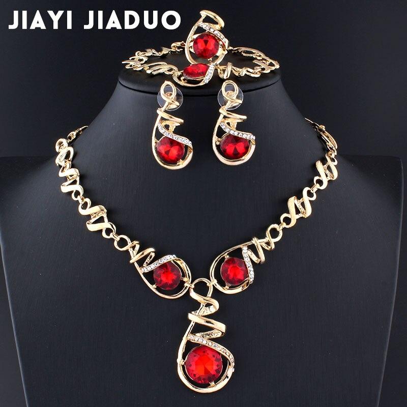 Brautschmuck Sets Verantwortlich Jiayijiaduo Gold-farbe Ohrringe Halskette Schmuck Sets Hochzeit Frauen Afrikanische Perlen Vintage Party Bisuteria Dropshipping 17 Schmuck & Zubehör