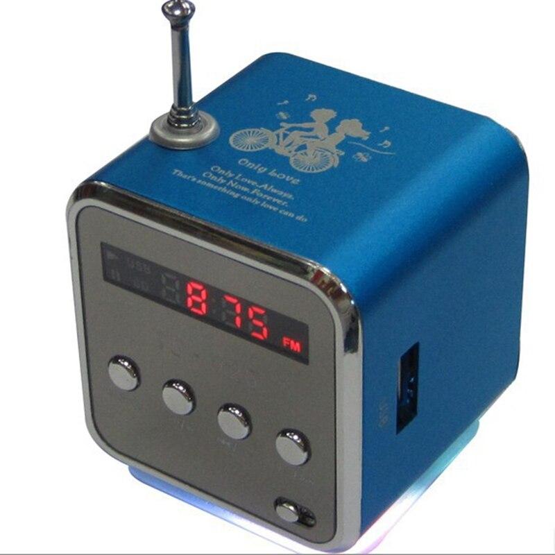Digital FM Radio Micro SD/TF tarjeta Digital linternet radio portátil fm Radio Mini multifunción altavoz de aluminio radio RADV26