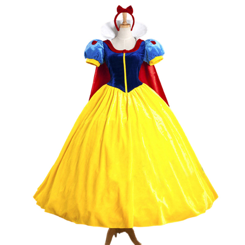 Halloween Snow White Princess Dress Women Fantasia Princess Dress Snow White Cosplay Costume Carnival Party Costumes for Adult