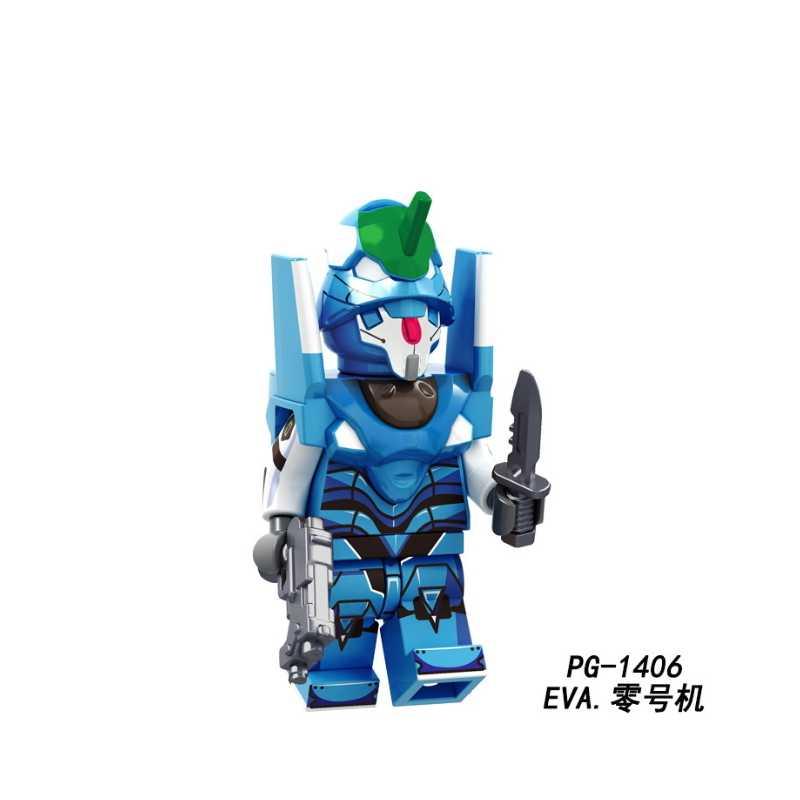 Одна распродажа EVA EVA00 EVA-2 мультфильм рисунок EVANGELION прототип производства строительные блоки кирпичи наборы Модель игрушки PG8237
