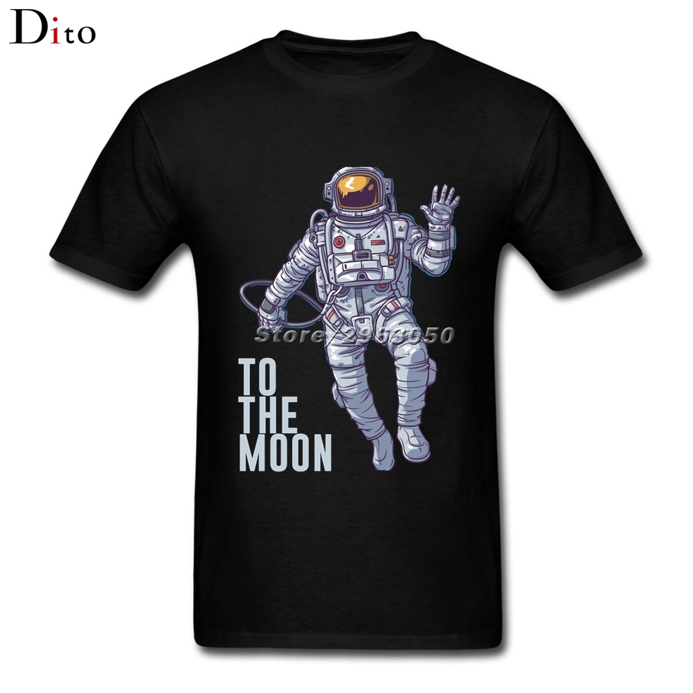 Litecoin Astronaut to the Moon T Shirt Men Mans Homme Short Sleeve Crewneck Cotton Big Size Cryptocurrency T Shirts