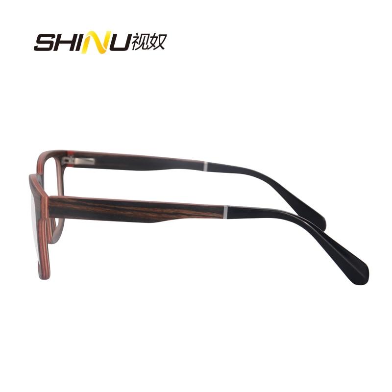 priroda drvo optički okvir naočale s receptom naočale - Pribor za odjeću - Foto 4