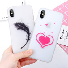 Lovely Cartoon Luminous Feather Phone Case For iPhone11pro X XS XR XS Max 7 6 6S 8 Plus Cute Love Heart Silicon Soft Back Cover(China)