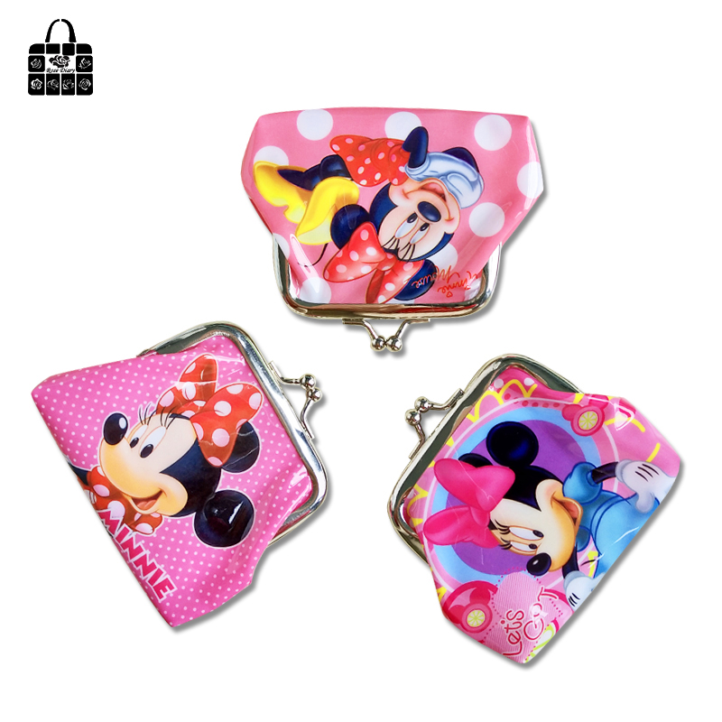 Rose Diary Fashion Cartoon Animals Buckle Coin Purse Girl Handbags Women PU Wallet Square Bag Cute Mouse Key Bag Children's Gift m215 cute cartoon pets akita dog siberian husky personality plush coin purse wallet girl women student gift wholesale