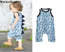 Waiwaibear Summer Newborn Infant Baby Boys Rompers Sleeveless Jumpsuits Infants Outfits Clothing  HA3