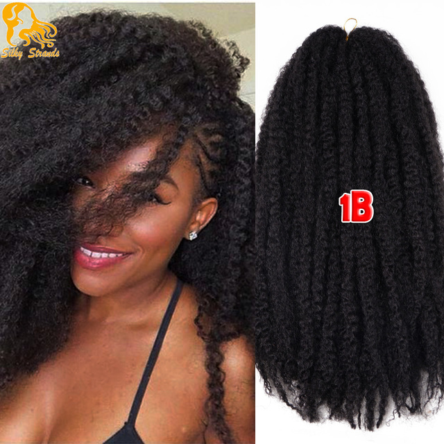 Afro Kinky Twist Hair Crochet Braids 12 Colors Ombre Marley Braid Hair 18inch Senegalese Curly ...